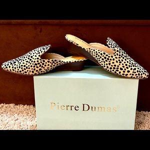 NIB-Pierre Dumas Beige Cheetah Mule